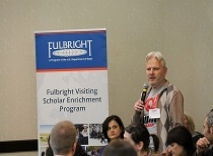 Volodymyr Dubovyk at Fulbright Scholar Enrichment Seminar at Montgomery and Selma