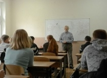 Visit of Fulbright alumnus V. Dubovyk to the School of history of the Donetsk V. Stus National University