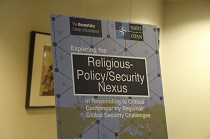"Volodymyr Dubovyk at the International Conference ""Exploring the Religious-Policy/Security Nexus in Responding to Critical Contemporary Regional/Global Security Challenges"""